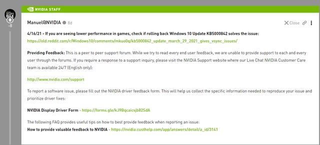 建议卸载最新 Win10 更新以修复游戏问题