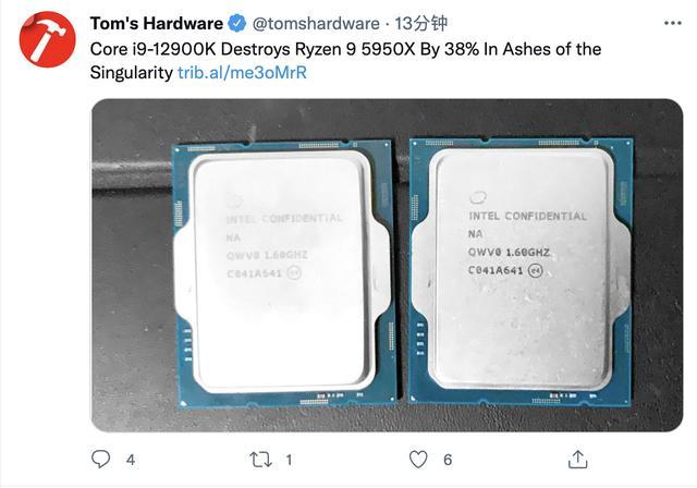 英特尔酷睿i9-12900K新品介绍,跑分超 AMD R9 5950X,游戏性能超高